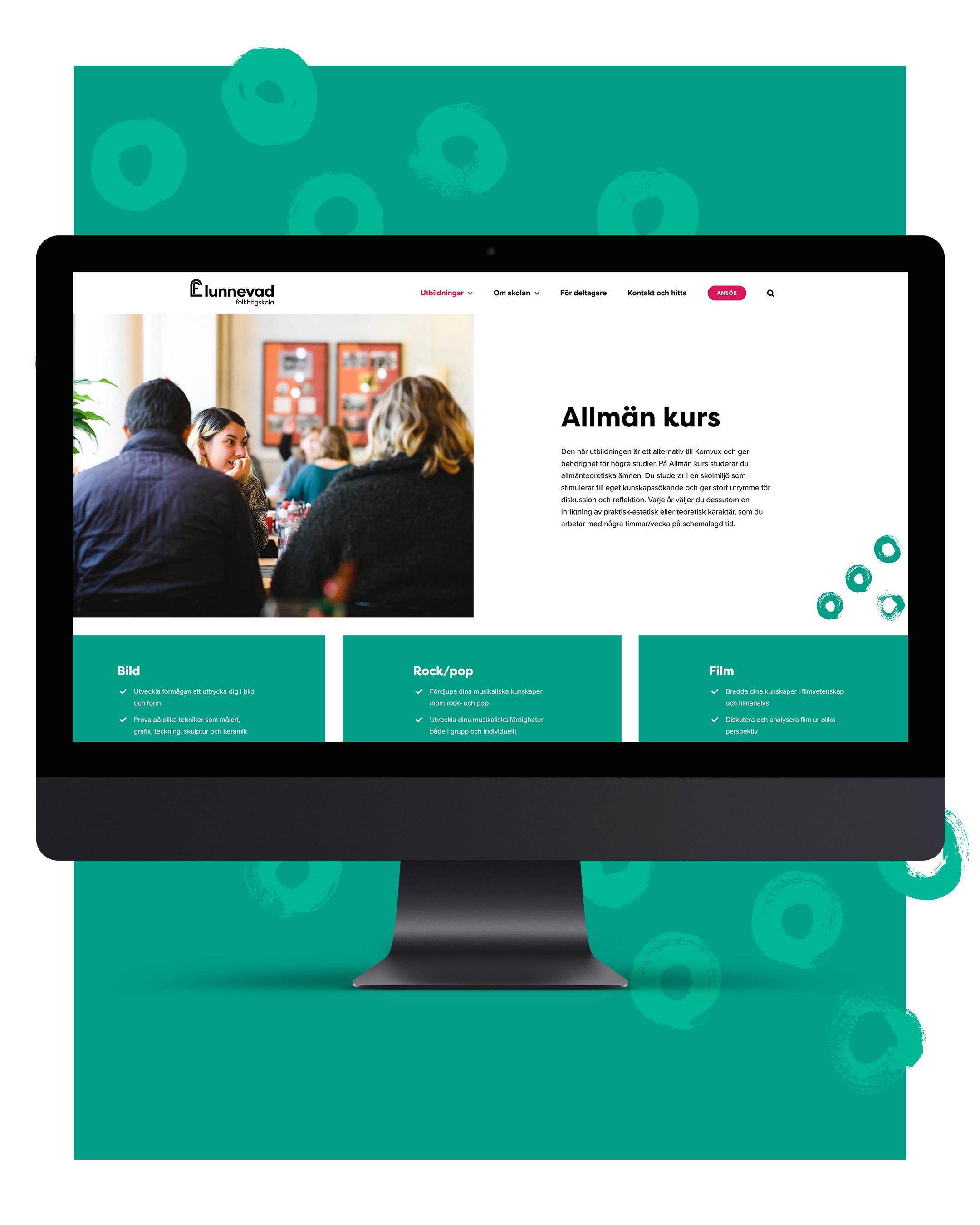 Lunnevad folkhögskolas nya hemsida