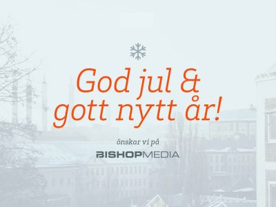 God jul och gott nytt år från Bishop Media