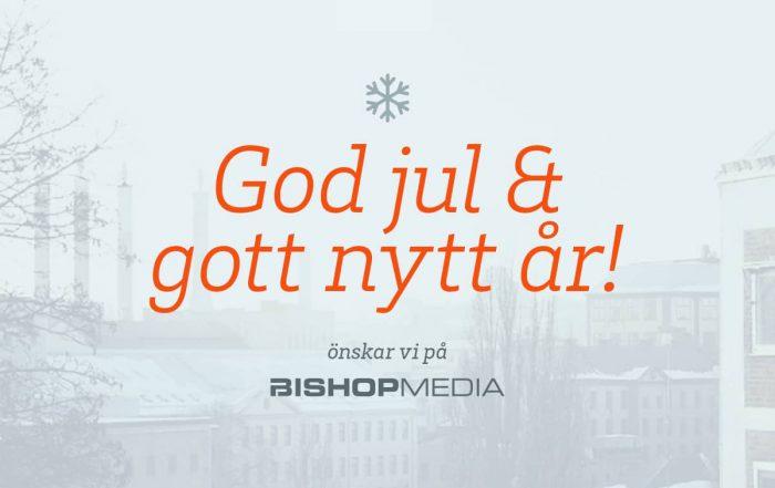 God jul och gott nytt år från Bishop Media