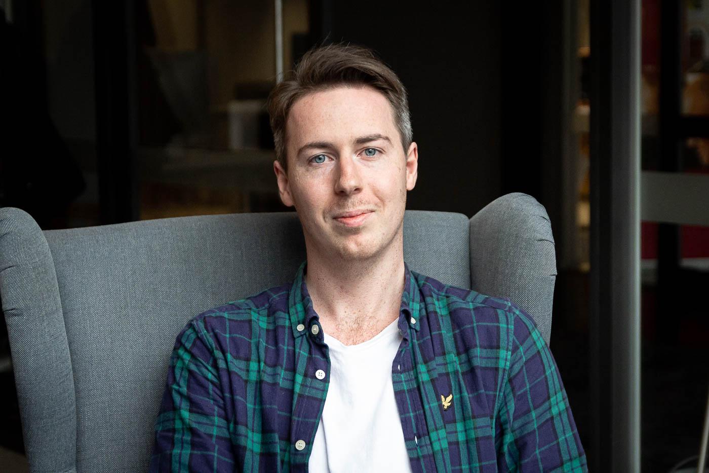 Adam Olsson, designer på Bishop Media