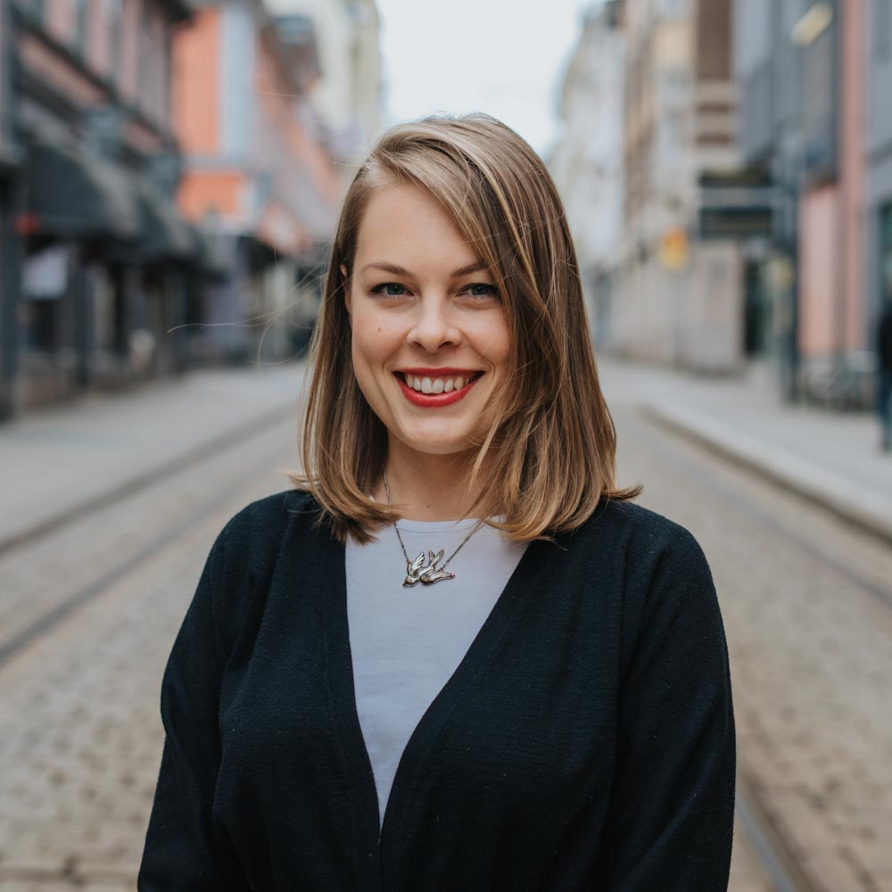 Malin Stenström, webbdesigner på Bishop Media Webbyrå