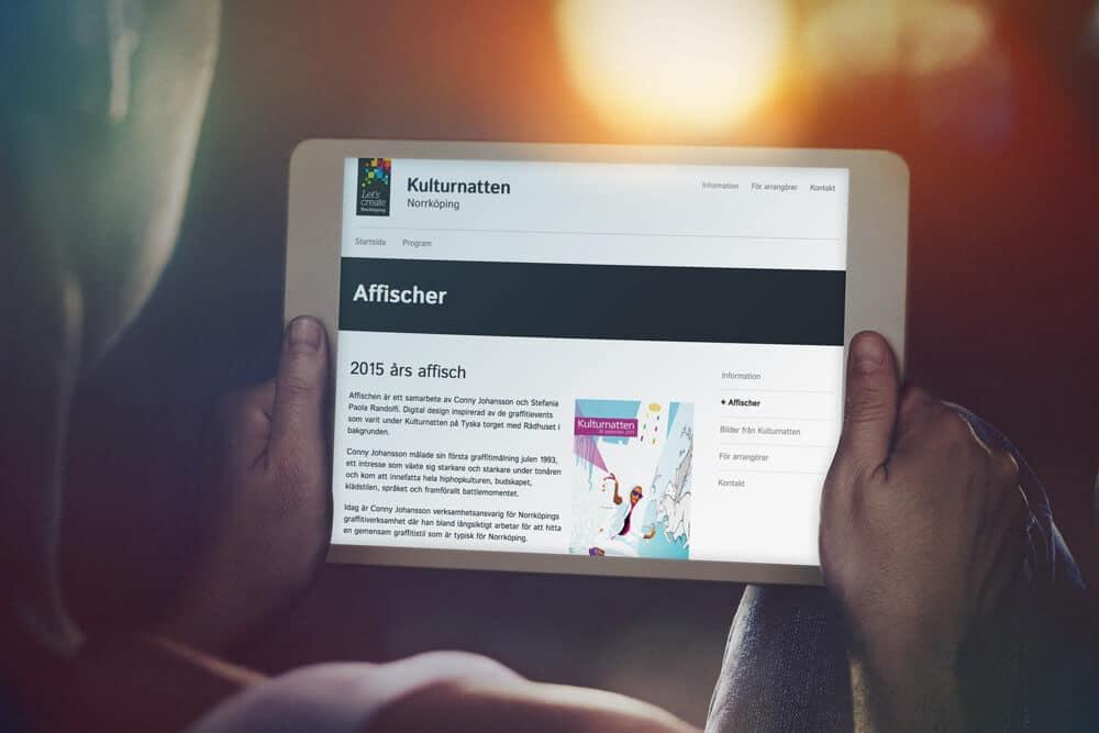 Kulturnatten Norrköping hemsida av Bishop Media