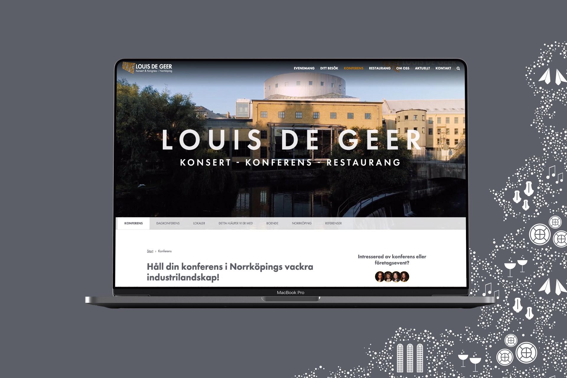 Louis de Geers hemsida