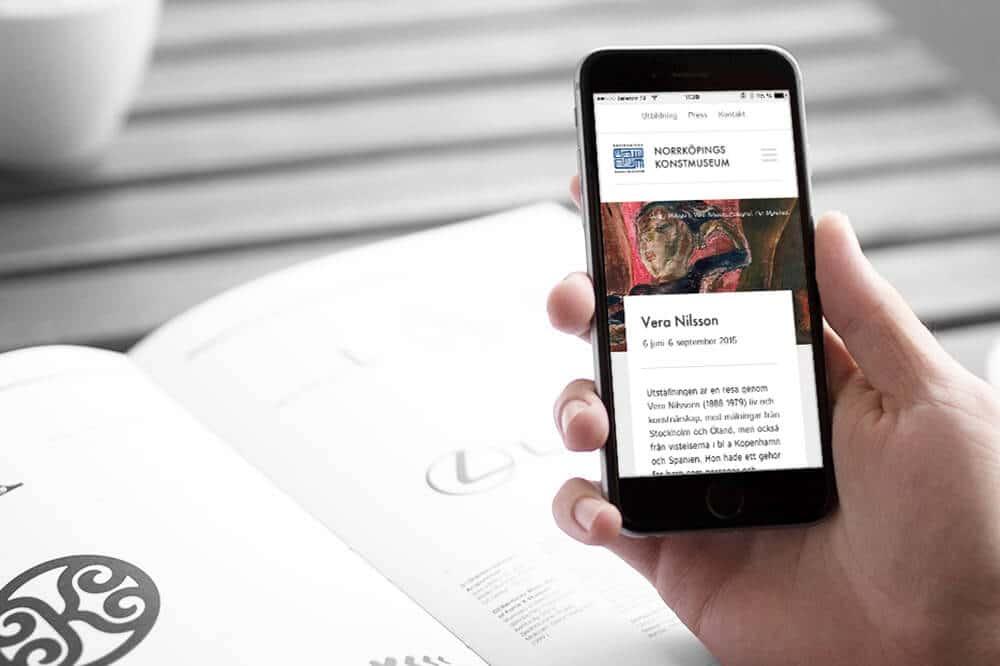 Norrköpings konstmuseum, ny hemsida av Bishop Media