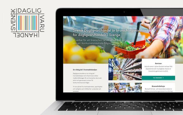 Svensk Dagligvaruhandel – ny hemsida av Bishop Media i Norrköping