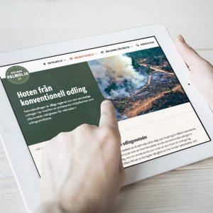 Hållbarpalmolja.se på en iPad