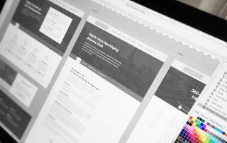 Wireframes – ny hemsida av Bishop Media webbyrå i Norrköping